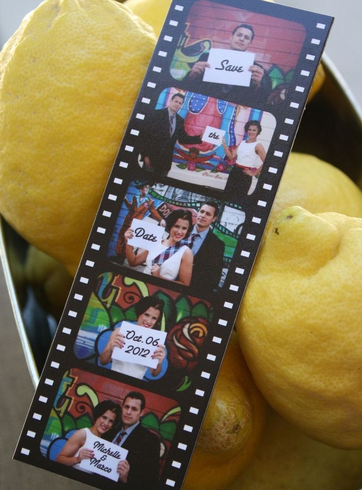 Custom Made Save The Date Photo Booth Film Strip Magnet