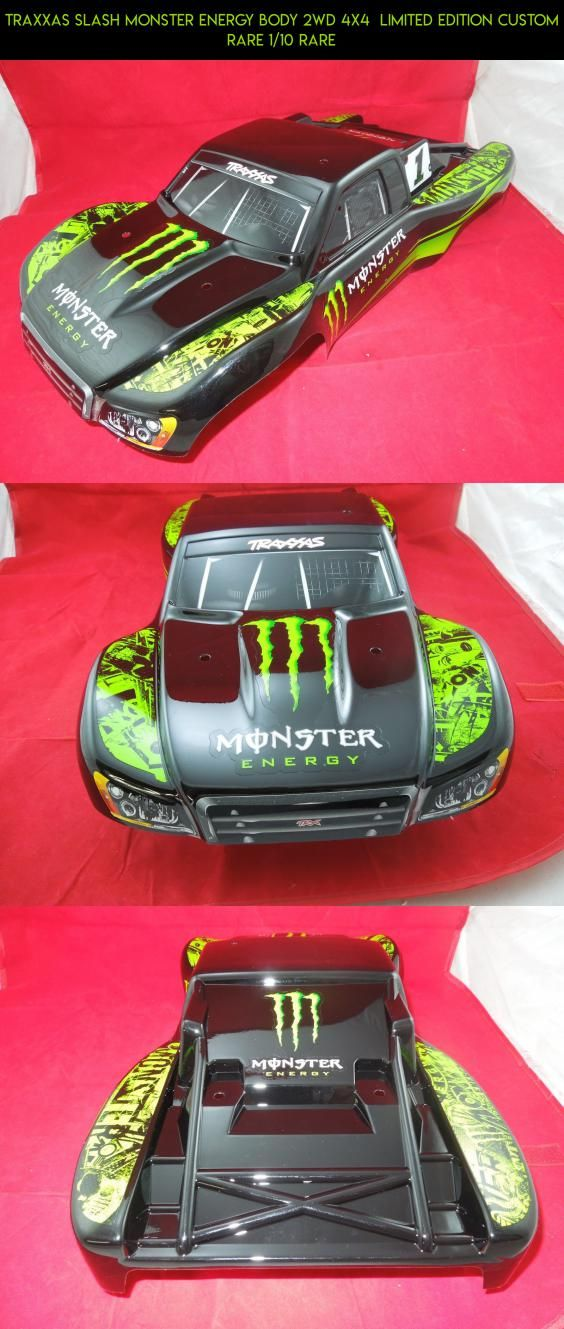 TRAXXAS SLASH MONSTER ENERGY Body 2WD 4X4  LIMITED EDITION CUSTOM RARE 1/10 RARE #products #traxxas #body #slash #camera #plans #kit #drone #tech #parts #racing #gadgets #technology #shopping #fpv