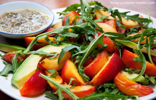 Nectarine salad with caper and lemon dressing: Recipe | .hungry student food