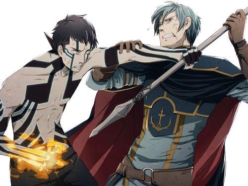 Shin Megami Tensei x Fire Emblem - Demi-Fiend vs. Ephraim >>>>THERE'S ALREADY FANART FOR THIS OMG