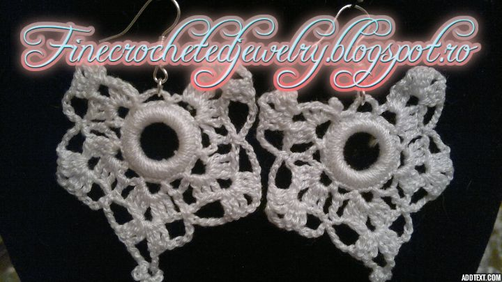 crochet lace earrings