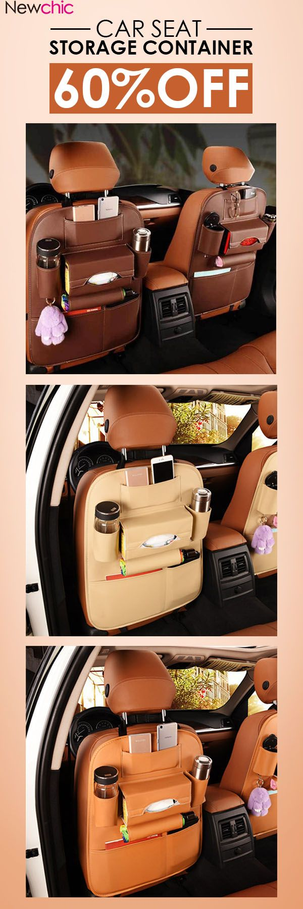US$15.99 5 Styles Leather Car Storage Bag Multi-compartment Car Seat Storage Container Outdoors Hanging Bag