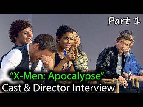 X-Men: Apocalypse Cast Interview: James McAvoy, Evan Peters, Tye Sheridan, Alexandra Shipp..May 2016 - YouTube
