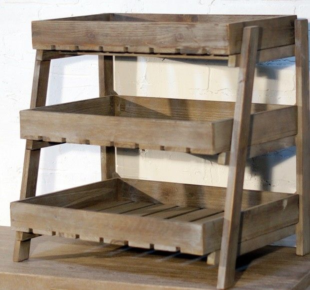 Wooden Crate Display Stand | 3 Tier Display Stand