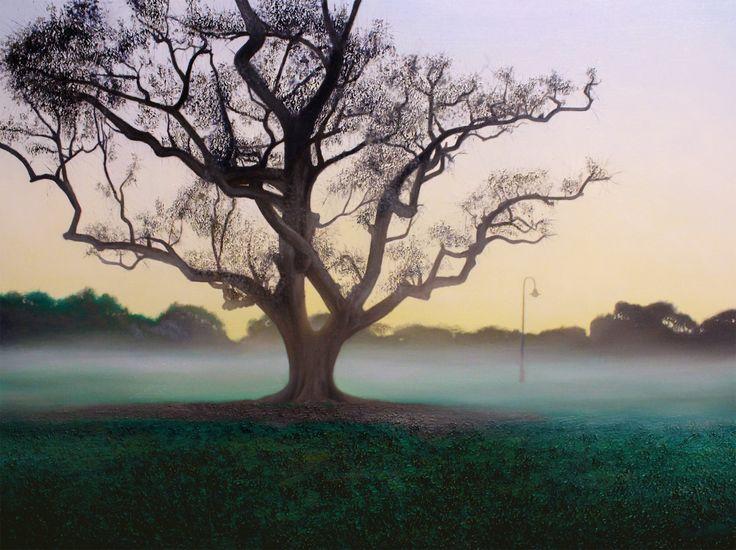 'Light Switch' (New Farm park) By Lars Vester Oil on canvas, 122x91cm