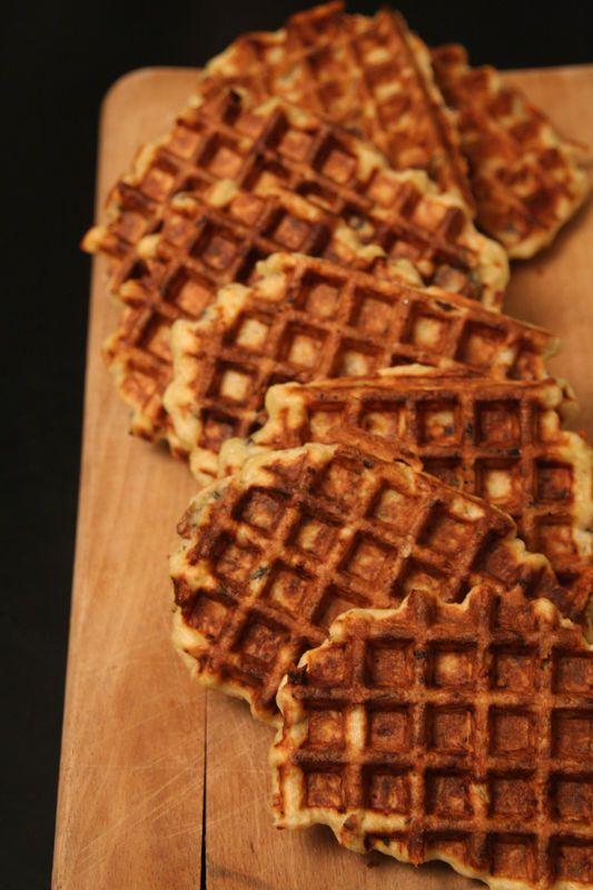 Gaufres salées au comté, panais et chanterelles / Savoury waffles with Comté, Parsnip and Chnaterelles