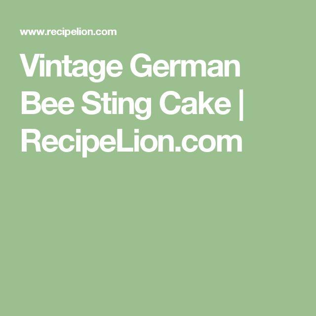 Vintage German Bee Sting Cake | RecipeLion.com
