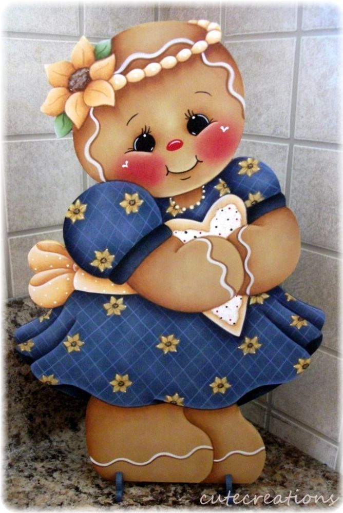 HP GINGERBREAD Girl with Cookie SHELF SITTER