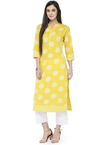293455c8fad Manas Store Indian Women Designer Kurta Kurti Bollywood Tunic Ethnic  Pakistani Top Crepe Kurtis Dress Tunics Cotton Tops Blouse Style Long Silk ( L)