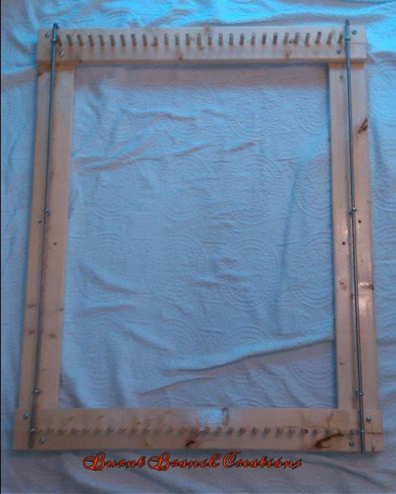 how to build a rag rug loom