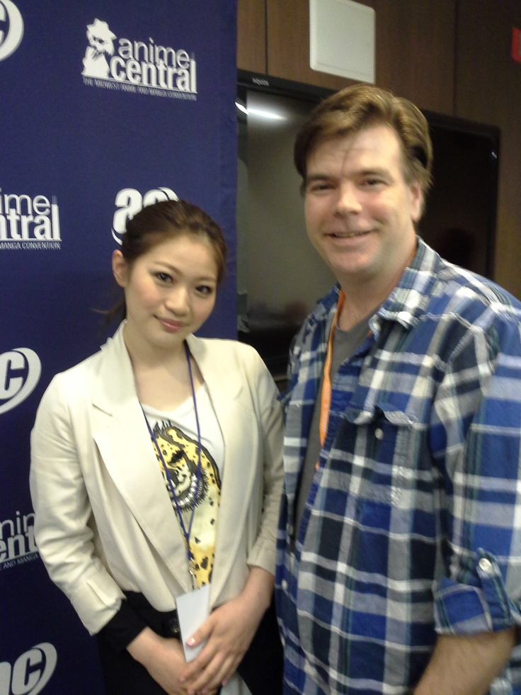 "This is me and Yukino, Japanese pop star, at the USA launching of her new CD ""Vocalize"" at Anime Central in Chicago"