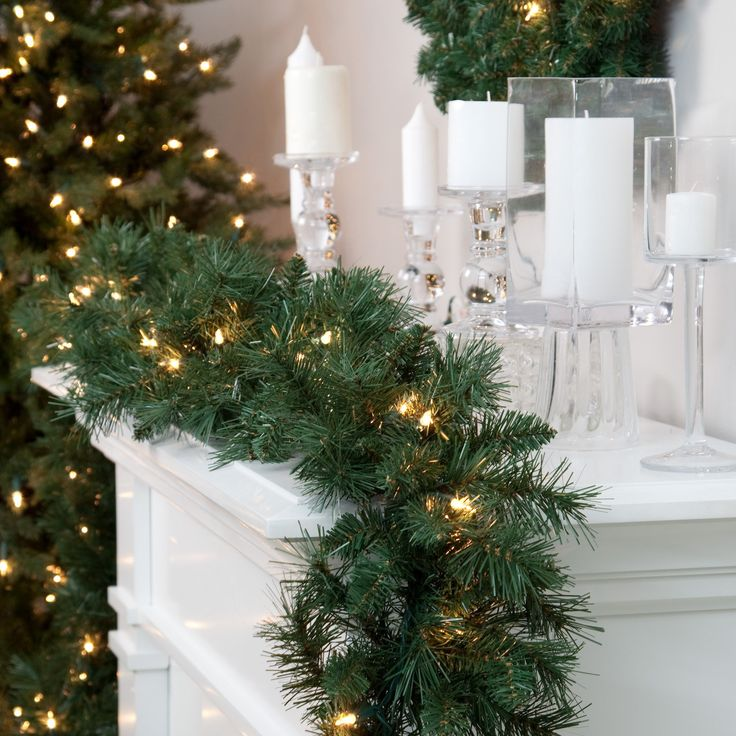 Classic Pine 9 ft. Pre-lit Garland | from hayneedle.com