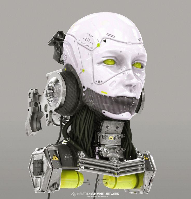 ArtStation - Cyborg girl, Hristian Ivanov Shyne