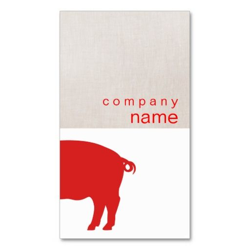103 best farming business cards images on pinterest business red pig business card colourmoves