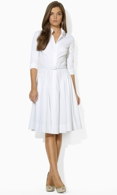 Ralph Lauren's white shirt dress