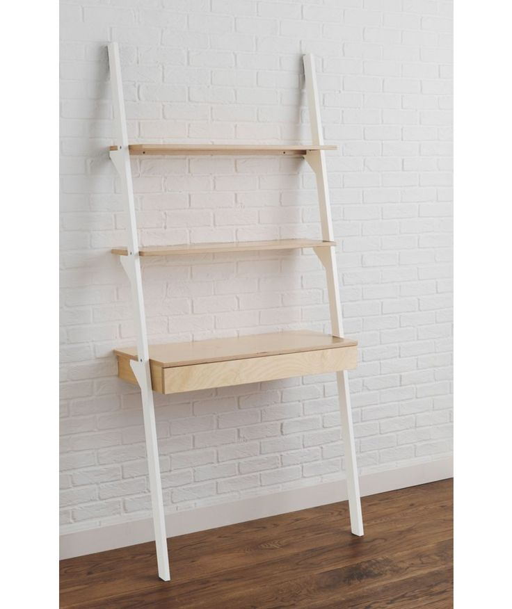 Buy habitat jai desk and ladder shelving white at argos for Bedroom units argos