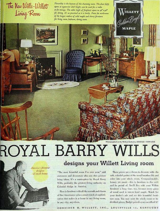 Willett Colonial Living Room Furniture October 1948 Flickr Photo Sharing Maple Furniturevintage