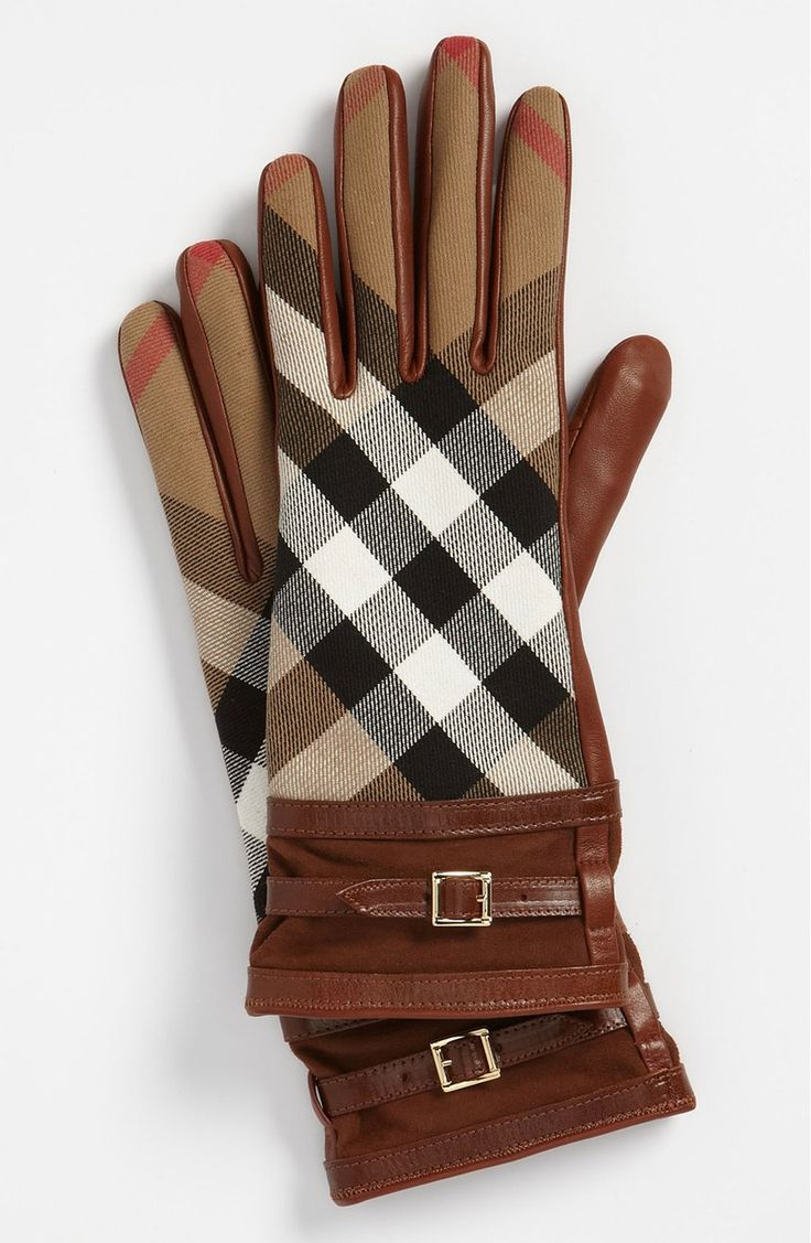 Free shipping and returns on Burberry 'House Check' Gloves at Nordstrom.com. Adjustable belts secure the suede cuffs of statement-making gloves cast in iconic checks and creamy leather.