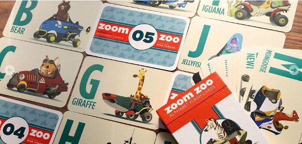 Zoom Zoo! beautifully illustrated alphabet flash cards for kids!