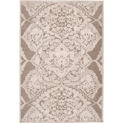 Brazil Green Gray and Silver Viscose and Chenille 5 ft. 2 in. x 7 ft. 6 in. Area Rug - $160