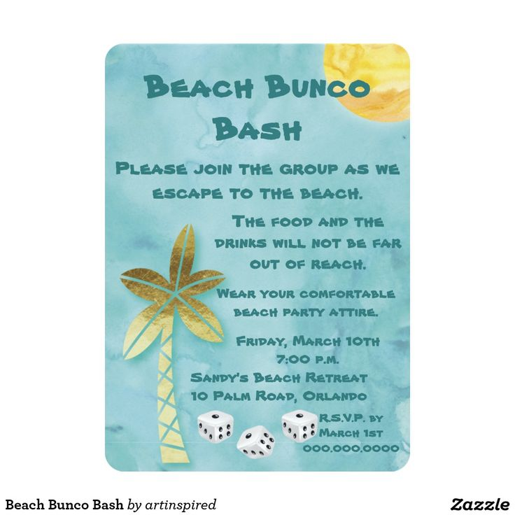 8 best Beach party invites images on Pinterest Beach party