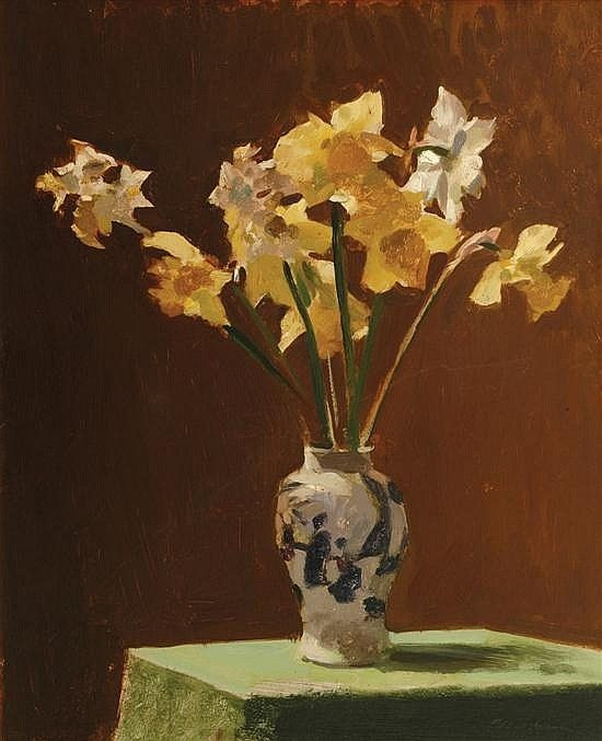 Max Meldrum- Still Life with Daffodils