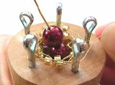 Spool Knitting with metal wire and beads!  Lots of info on Spool Knitting.   #Wire #Jewelry #Tutorials