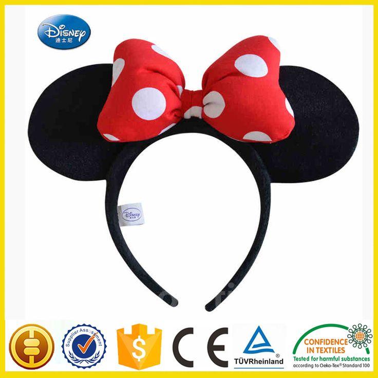 minnie mouse oren hoofdband haaraccessoires kinderen cosplay rode roze strik minnie mouse oren hoofddeksels kinderen verjaardagsfeestje(China (Mainland))