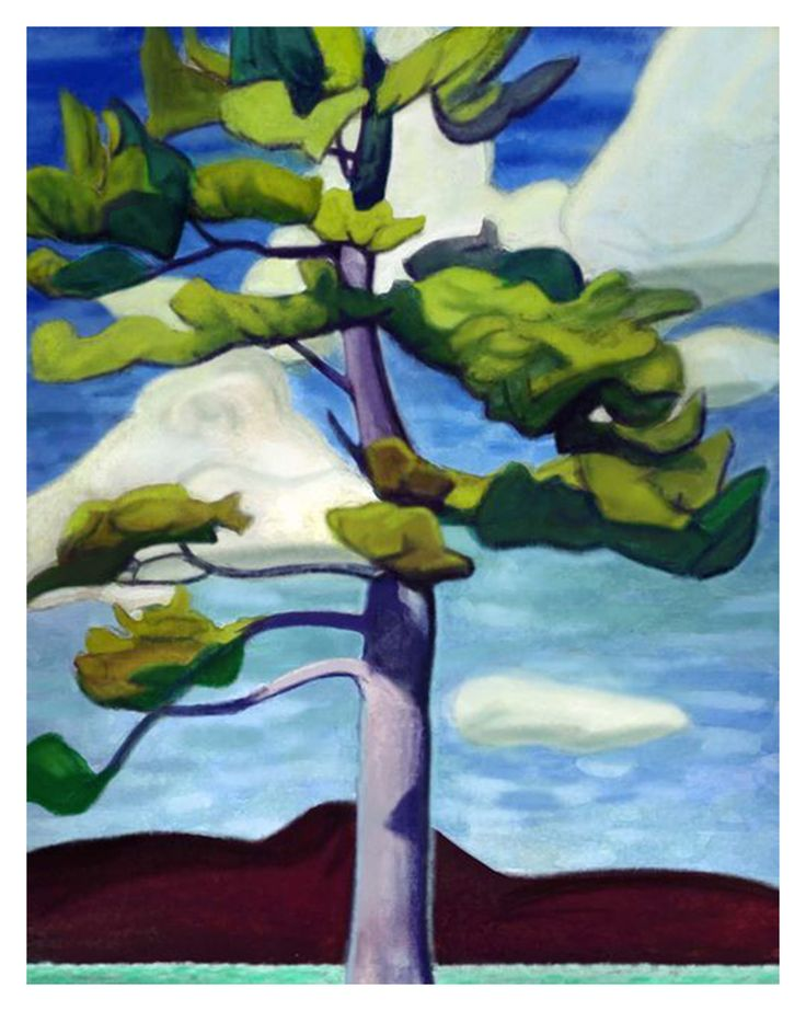 Lawren Harris's Jack Pine Tree Lake Superior Ontario Canada Landscape Counted Cross Stitch or Counted Needlepoint Pattern