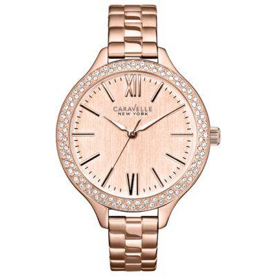 Caravelle New York - Ladies Carla Rose Gold Steel Watch - 44L125 - Online Price: £85.00