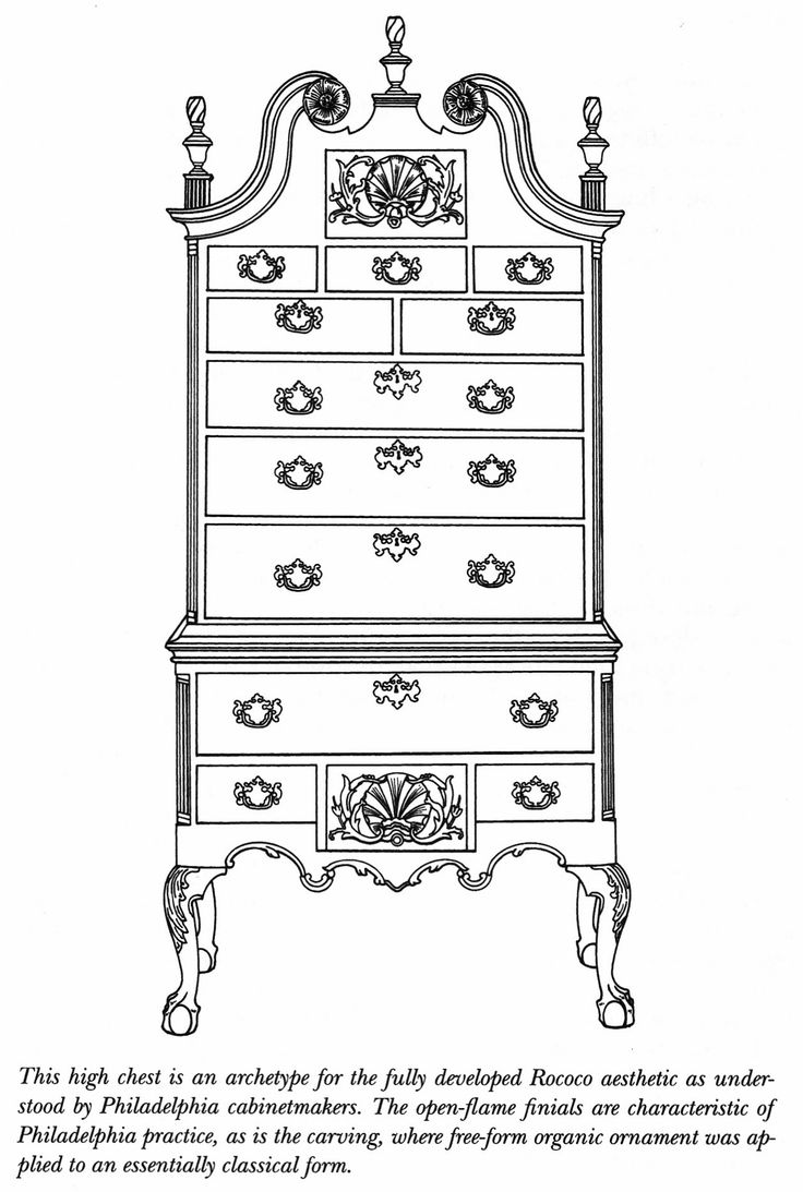 High chest, Philadelphia. - 160 Best Furniture, Decor & Antiques Images On Pinterest Chairs