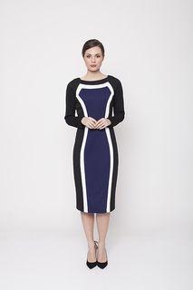 Ladies Dresses Online | Arabesque Tri Colour Dress | PINK RUBY