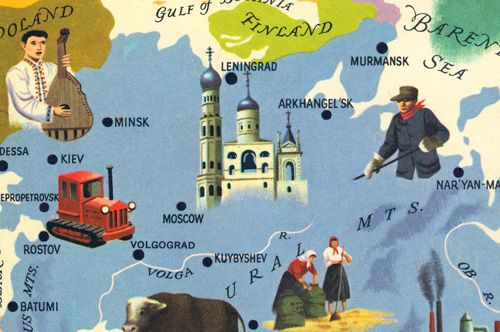 From the cover of 'Russia – around the World Program' by the American Geographical Society, 1963.