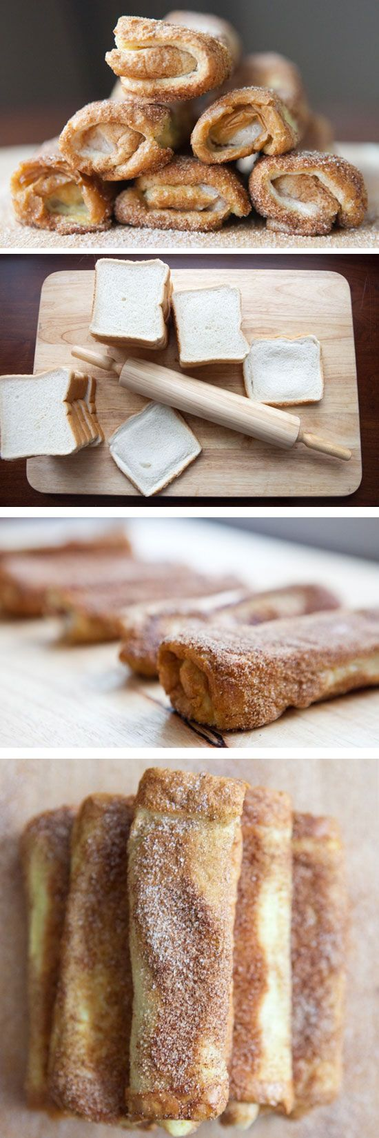 French Toast Roll-Ups | Click Pic for 25 Easy Mothers Day Breakfast in Bed Ideas | Homemade Brunch Ideas for a Crowd