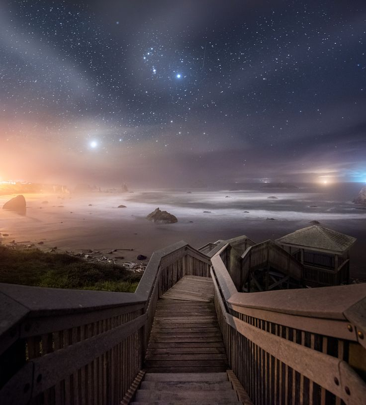 Starry sky by Daniel Greenwood (Bandon Beach, Oregon)