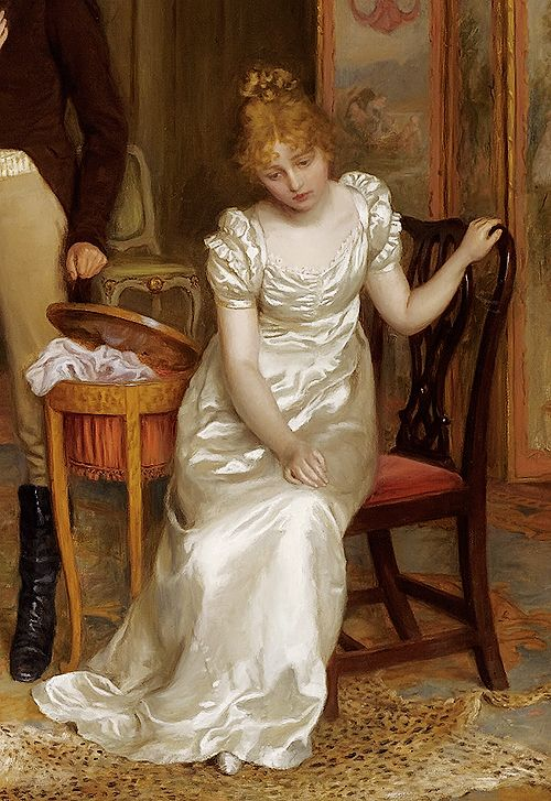 Detail from Charles Haigh-Wood's Painting 'Love Will Triumph