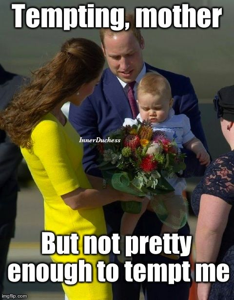 Prince George prefers his flowers nonprickly