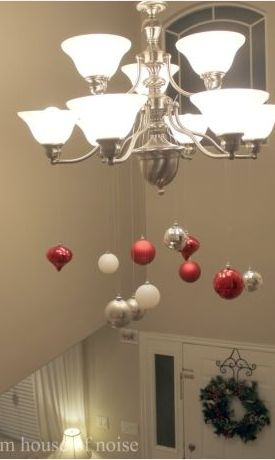 Super Easy DIY Christmas Decor Ideas - Chandelier Showstopper - Click Pic for 25 Christmas Craft Ideas