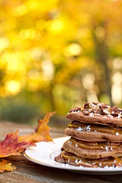 Spiced Up & Stacked Pumpkin Butter Pancakes For One — Oh She Glows
