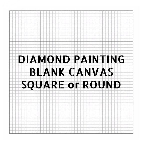 Diamond Embroidery Square Canvas with Glue Empty Canvas with Markings Diamond Painting Blank Grid Adhesive Canvas Accessories