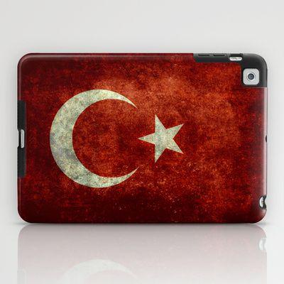 The National flag of Turkey - Vintage version iPad Case