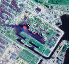 Chernobyl reactor #4 on fire