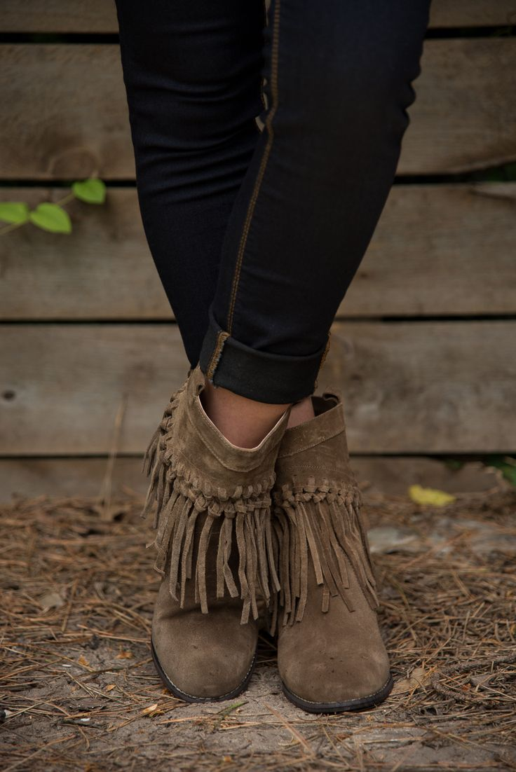 *PRE-SALE* Macrame Fringe Boot - Khaki – Glamour Farms