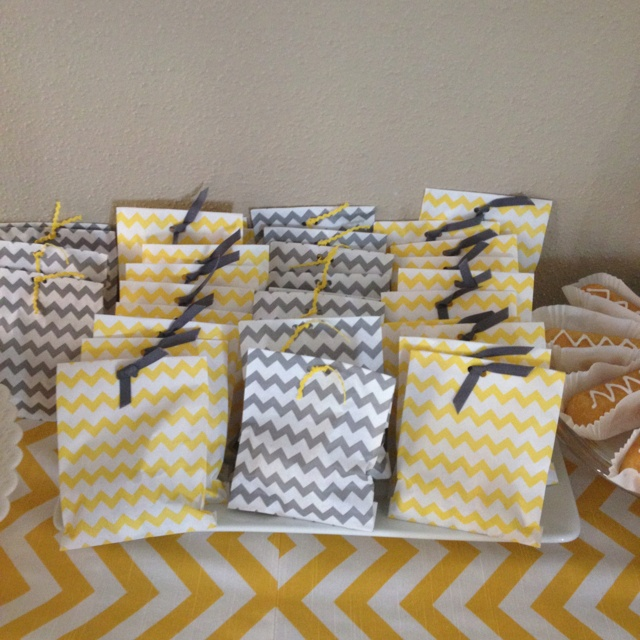 shower baby baby shower favors goodie bags chevron shower baby