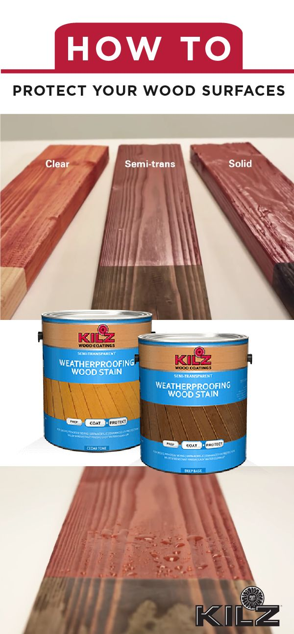 You put a lot of work into making your backyard a fun and creative outdoor entertaining space. Make sure you're getting the most out of your outdoor wooden surfaces by protecting them with KILZ Wood Stains. These premium acrylic stains help weatherproof your deck, railing, shakes, shingles, siding, fences and wood patio furniture.