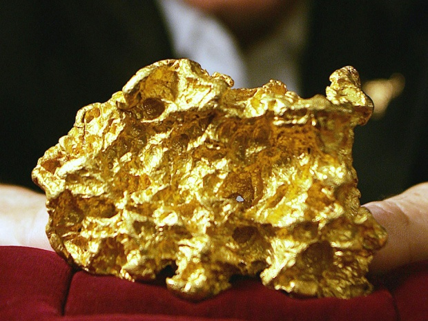 Gold veins directly from earth crust