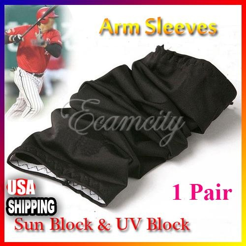 1 Pair Cooling Arm Sleeves Cover UV Sun Protection Sport Arm Sleeve Outdoor New | eBay