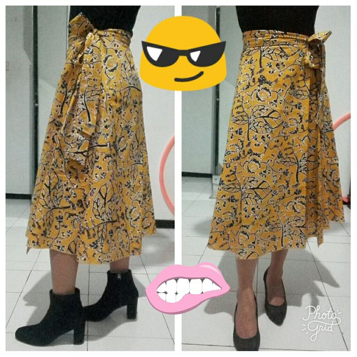 Effortless yellow batik skirt