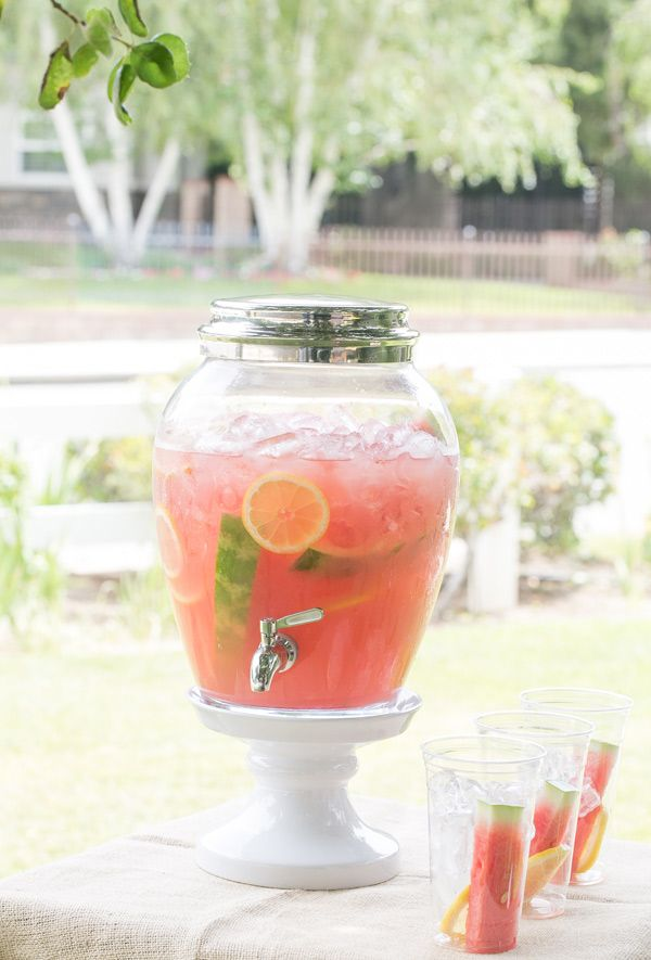Watermelon Lemonade Recipe. Homemade Lemonade (double this recipe to make the 12 cups you will need)  1 1/4 cup fresh-squeezed lemon juice  3/4 to 1 cup sugar or a sugar substitute. (You can add more or less depending on how you like it!) 6 cups water