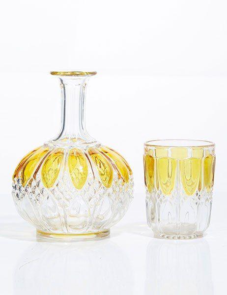 Nineteenth-century Victorian glass water carafe.